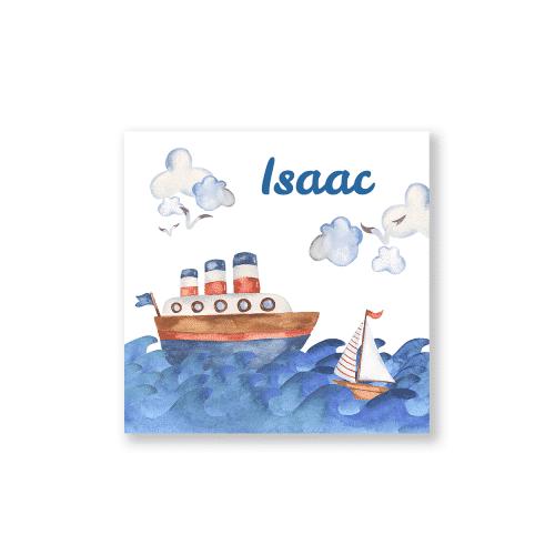 Stoer geboortekaartje zeevaart voorzijde