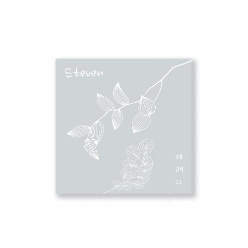 Minimalistisch bloemenkaartje voorzijde