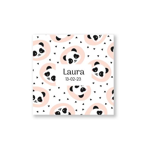 Geboortekaartje met panda ontwerp voorzijde