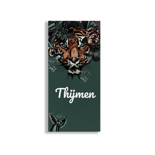 Geboortekaart met tijger