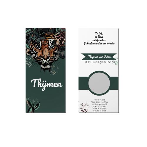 Geboortekaart tijger overzicht